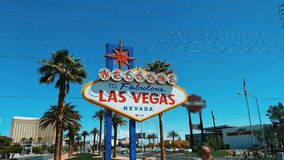 Boa vinda a Las Vegas fabuloso Foto de Stock Royalty Free