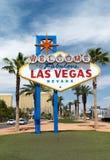 Boa vinda a Las Vegas fabuloso Fotos de Stock Royalty Free