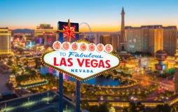 Boa vinda a Las Vegas fabuloso Nevada Sign Imagem de Stock Royalty Free