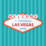 Boa vinda a Las Vegas fabuloso Nevada Sign On Curtains Background Imagens de Stock