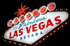 Boa vinda a Las Vegas, Nevada (EUA) Fotos de Stock