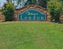 Boa vinda a Londres Imagem de Stock