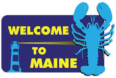 Boa vinda a Maine Imagem de Stock