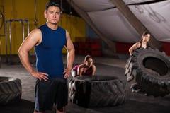 Boa vinda a meu gym Imagem de Stock Royalty Free