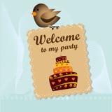 Boa vinda a meu partido Foto de Stock