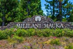 Boa vinda a Mililani Mauka Fotos de Stock