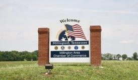 Boa vinda a Millington, Tennessee imagem de stock royalty free
