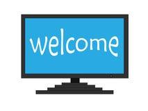 Boa vinda na tela da tevê Foto de Stock Royalty Free