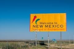 Boa vinda a New mexico fotografia de stock royalty free