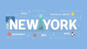 Boa vinda a New York ilustração royalty free