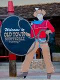 Boa vinda a Oldtown, Scottsdale Fotos de Stock