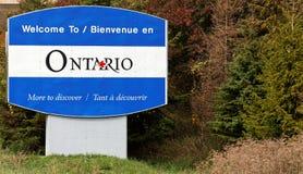 Boa vinda a Ontário Fotografia de Stock