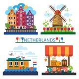 Boa vinda a Países Baixos Imagem de Stock Royalty Free