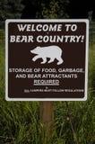 Boa vinda para carregar o sinal do país Fotos de Stock Royalty Free
