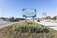Boa vinda para fechar o sinal do Largo, Florida Imagens de Stock