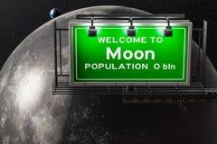 Boa vinda para moon o conceito, 3D Ilustração Royalty Free