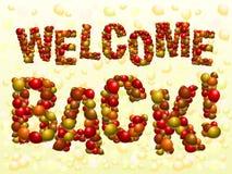 A boa vinda para trás balloons Imagens de Stock Royalty Free