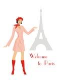 Boa vinda a Paris Imagem de Stock Royalty Free