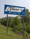 Boa vinda a Tennessee Foto de Stock