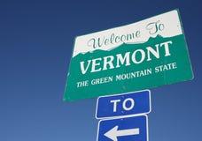 Boa vinda a Vermont Imagem de Stock Royalty Free