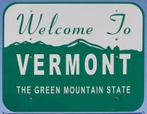 Boa vinda a Vermont fotos de stock royalty free