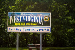 Boa vinda a West Virginia imagem de stock