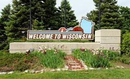 Boa vinda a Wisconsin Imagem de Stock