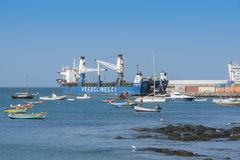 Boa Vista portuario comercial de Rei de la sal foto de archivo