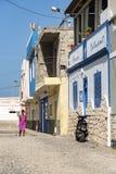 Boa Vista withColorful de los edificios residenciales de la calle imagen de archivo libre de regalías