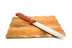 Boad de cuisine un couteau Images stock