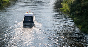 Boad on the Havel in Oranienburg Stock Images