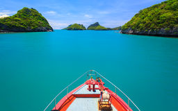 Boad to Angthong island,  Thailand Stock Photos