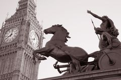 Boadicea and Big Ben, London Stock Images