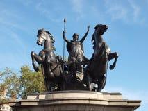 Boadicea monument London Arkivfoton