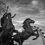 Boadicea-Statue, London lizenzfreie stockfotografie