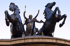Boadicea Statue in Westminster London Royalty Free Stock Photos