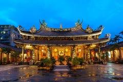 Boantempel in de stad van Taipeh Royalty-vrije Stock Foto's