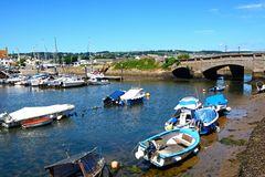 Boaqts in Axmouth harbour. Stock Photography