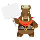 Boar with banner Royalty Free Stock Images