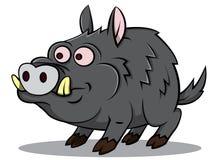 Boar cartoon illustration Royalty Free Stock Photos
