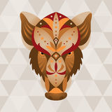 Boar. Chinese horoscope sign. Vector illustration in ethno style stock illustration