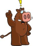 Boar Exclamation Stock Image