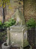 Boar fountain in Ripley a village in North Yorkshire in England, a few miles north of Harrogate. A castle dating from the 15th. A castle dating from the 15th Royalty Free Stock Images