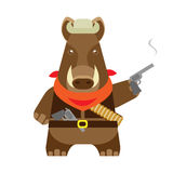 Boar with a gun Stock Photo
