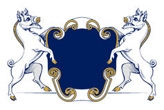 Boar heraldic emblem Stock Photography