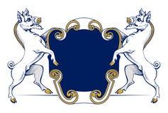 Boar heraldic emblem Stock Photography