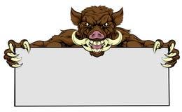 Boar Razorback Sign Royalty Free Stock Photo
