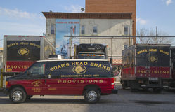Boar's Head Brand Provisions trucks in Brooklyn Royalty Free Stock Photos