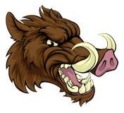 Boar Sports Mascot. A boar razorback sports mascot character Royalty Free Stock Photo