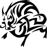 Boar in tribal style - vector illustration Royalty Free Stock Image